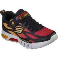 Skechers Flex Glow Dezlom Black Red Trainers