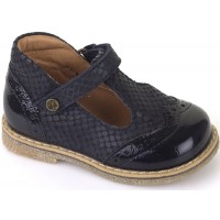 Froddo G2140030-2 Navy Patent T-bar Shoes