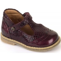 Froddo G2140030 Bordeaux Patent T-bar Shoes