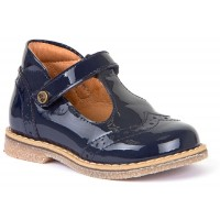 Froddo G2140042 Blue Patent T-bar Shoes