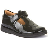 Froddo G3140073-1 Black Patent T-bar School Shoes