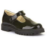 Froddo G3140113-1 Black Patent T-bar School Shoes