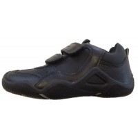 Geox Wader Black School Shoes