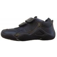 Geox Wader Black School Shoes
