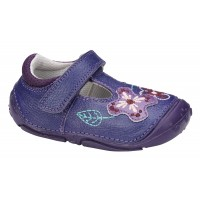Hush Puppies Gert Purple Leather Pre-walkers