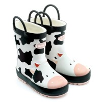 Chipmunks Gertie Black White Wellingtons
