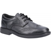 Hush Puppies Harry Black Leather School Shoes