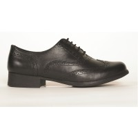 Hush Puppies Kada Black School Shoes