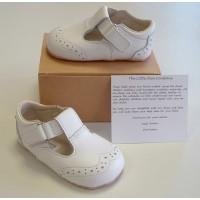 Ickle Shooz Traditional White T-bar Pram Shoes