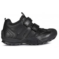 Geox Savage J0424A Black School Shoes