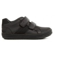 Geox Elvis Black School Shoes