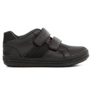 Geox Elvis Black School Shoes