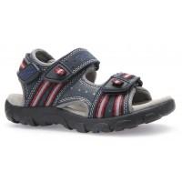 Geox Strada Navy Red Sandals