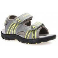 Geox Strada Grey Lime Sandals