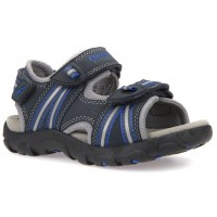 Geox Strada Navy Royal Blue Sandals