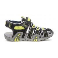 Geox Kraze Black Yellow Sandals