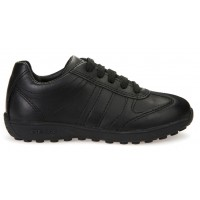 Geox Xitizen Black Lace School Shoes