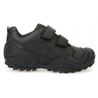 Geox Savage J641VE Black School Shoes