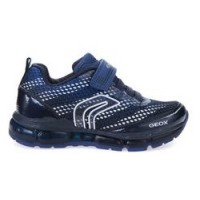 Geox Android Navy Lace Lights Trainers