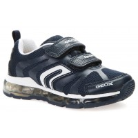 Geox Android Navy White Lights Trainers