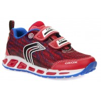 Geox Shuttle Red Trainers