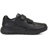 Geox Xunday Black School Shoes