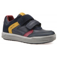 Geox Arzach Navy Yellow Shoes