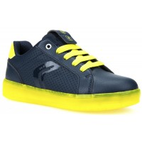 Geox Kommodor Navy LED Rechargeable Lights Trainers
