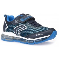 Geox Android Navy Light Blue Trainers