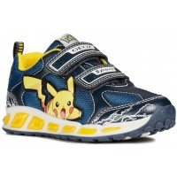 Geox Shuttle Pokemon Navy Yellow Size EU 25 / UK 7.5