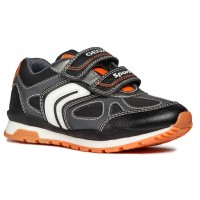 Geox Pavel J8415A Grey Orange Trainers