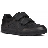 Geox Arzach Black School Shoes