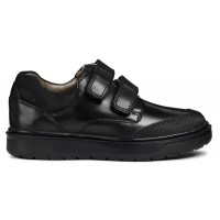 Geox Riddock J847SF Black School Shoes