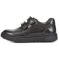 Geox Riddock J847SH Black School Shoes