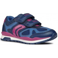 Geox Pavel J848CA Navy Pink Trainers
