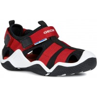Geox Wader Black Red Sandals