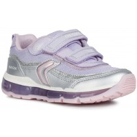 Geox Android Silver Lilac Trainers