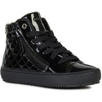 Geox Kalispera Black Patent Boots