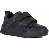 Geox Perth Black School Shoes