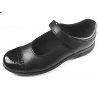 Toughees Janine Black School Shoes