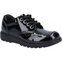 Hush Puppies Kiera Black Patent Leather School Shoes