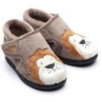 Chipmunks Lionel Brown Slippers