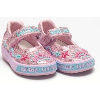 Lelli Kelly Tiara Baby Pink Glitter Canvas Shoes