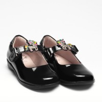 Lelli Kelly Bonnie LK8311 Black Patent Changeable Strap School Shoes