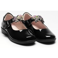 Lelli Kelly Blossom LK8312 Black Patent Changeable Strap School Shoes