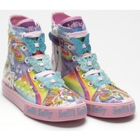 Lelli Kelly Unicorn Mid Canvas Baseball Boots