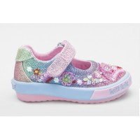 Lelli Kelly Tillie Baby Rainbow Glitter Canvas Shoes