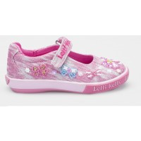 Lelli Kelly Bow Shining Pink Canvas Shoes