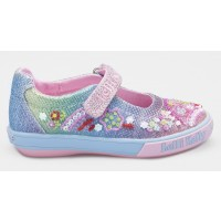 Lelli Kelly Tillie Rainbow Glitter Canvas Shoes