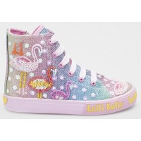 Lelli Kelly Flamingo Rainbow Multi Baseball Boots